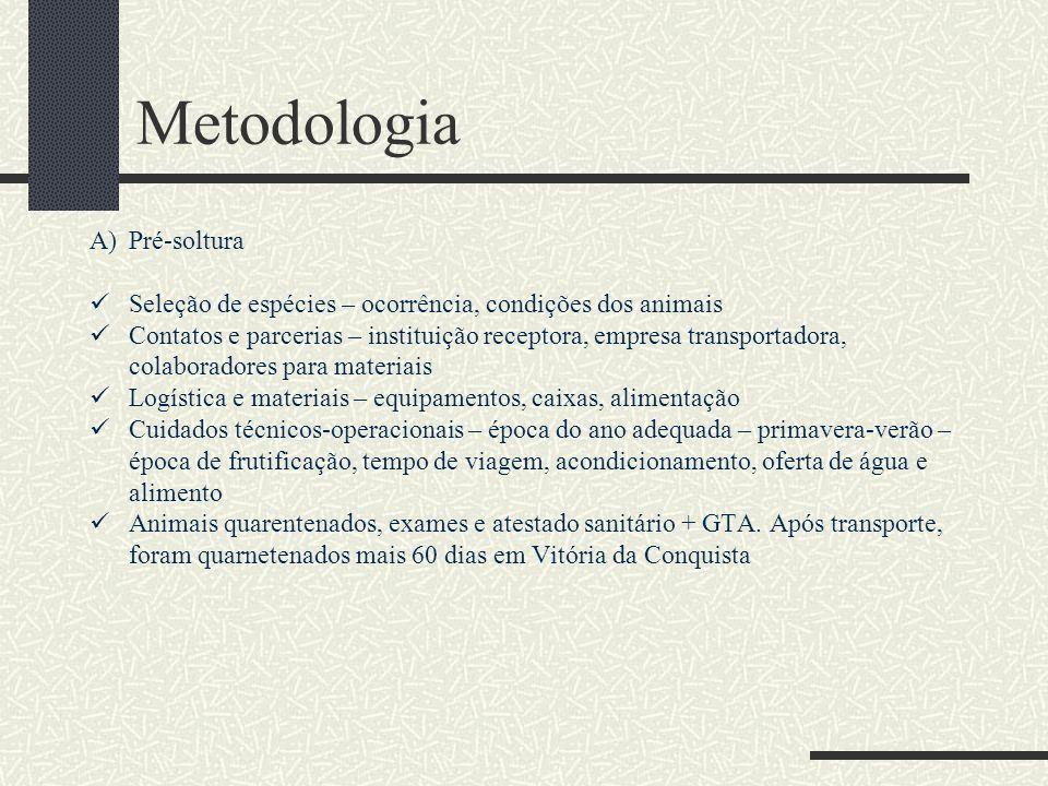 Metodologia Pré-soltura