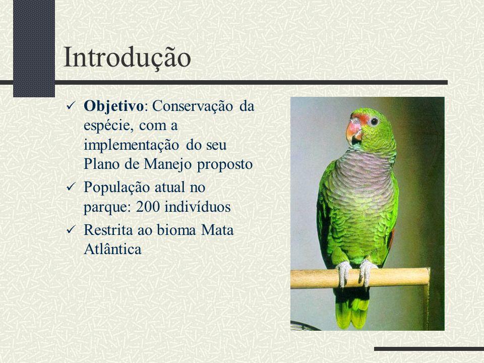 Introdução Objetivo: Conservação da espécie, com a implementação do seu Plano de Manejo proposto. População atual no parque: 200 indivíduos.