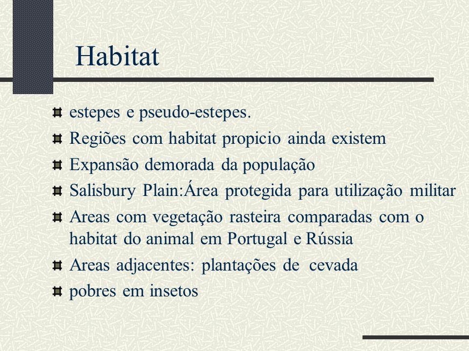 Habitat estepes e pseudo-estepes.