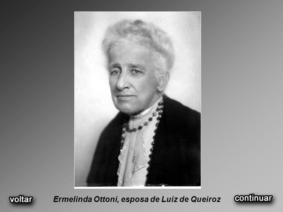 Ermelinda Ottoni, esposa de Luiz de Queiroz