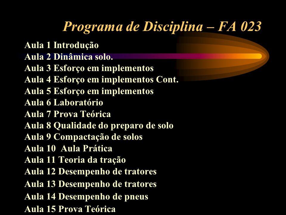 Programa de Disciplina – FA 023