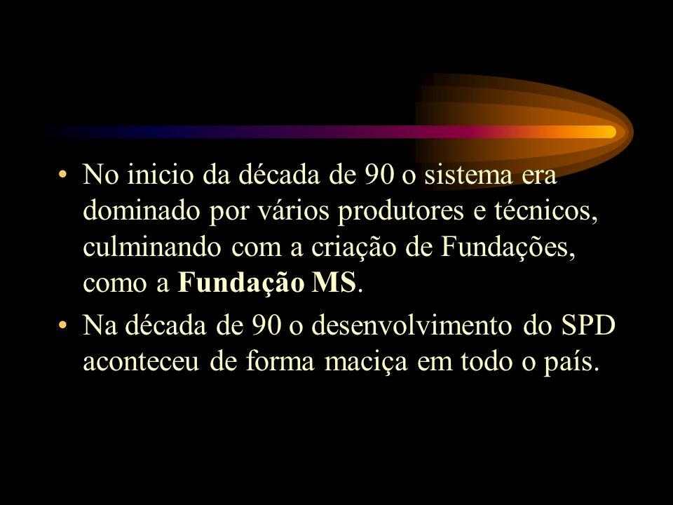 No inicio da década de 90 o sistema era dominado por vários produtores e técnicos, culminando com a criação de Fundações, como a Fundação MS.
