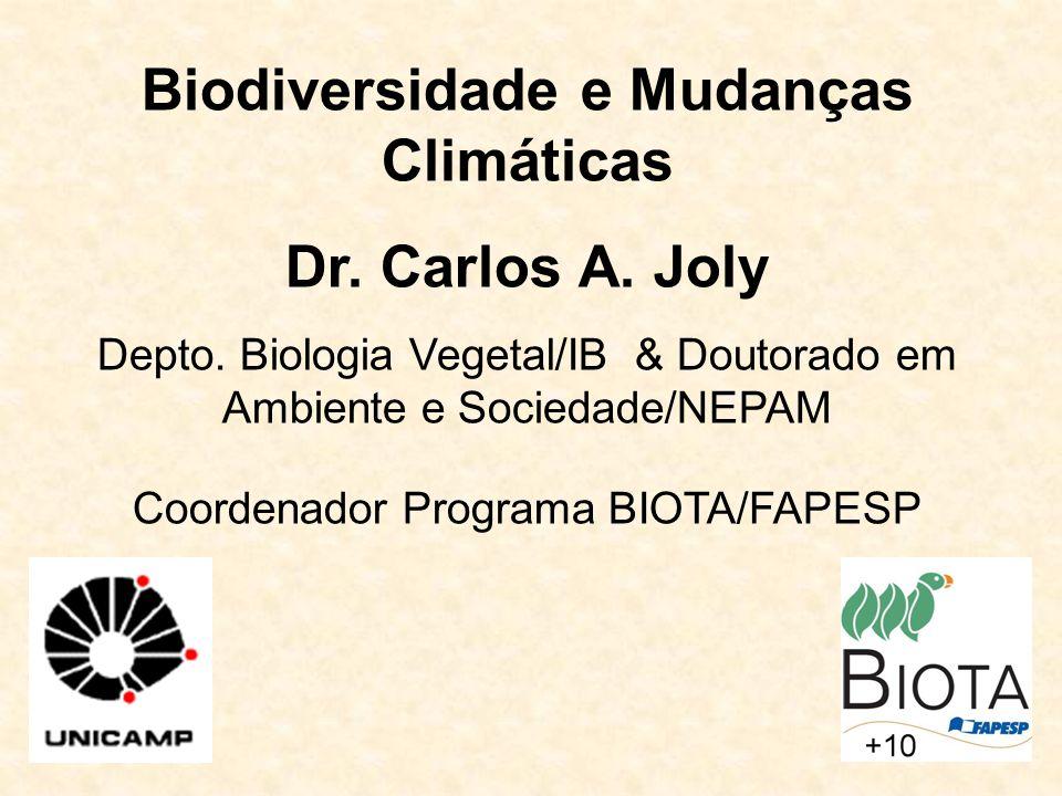 Biodiversidade e Mudanças Climáticas