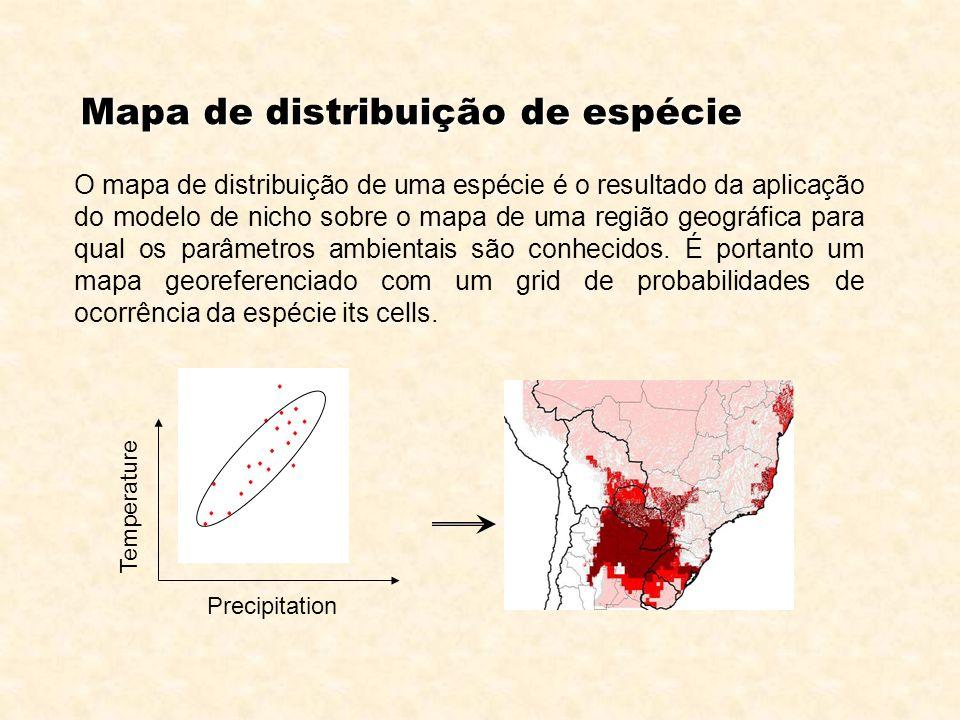 Mapa de distribuição de espécie