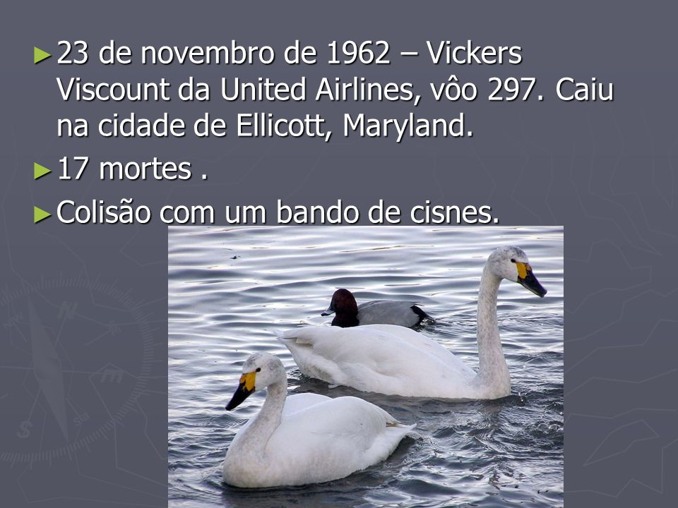 23 de novembro de 1962 – Vickers Viscount da United Airlines, vôo 297