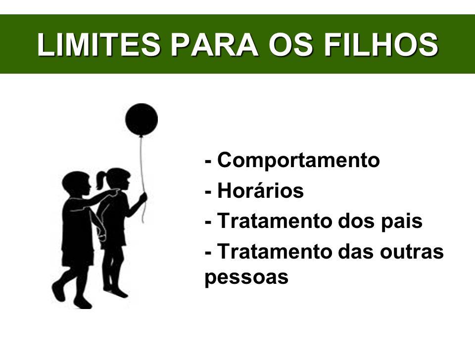 LIMITES PARA OS FILHOS - Comportamento - Horários