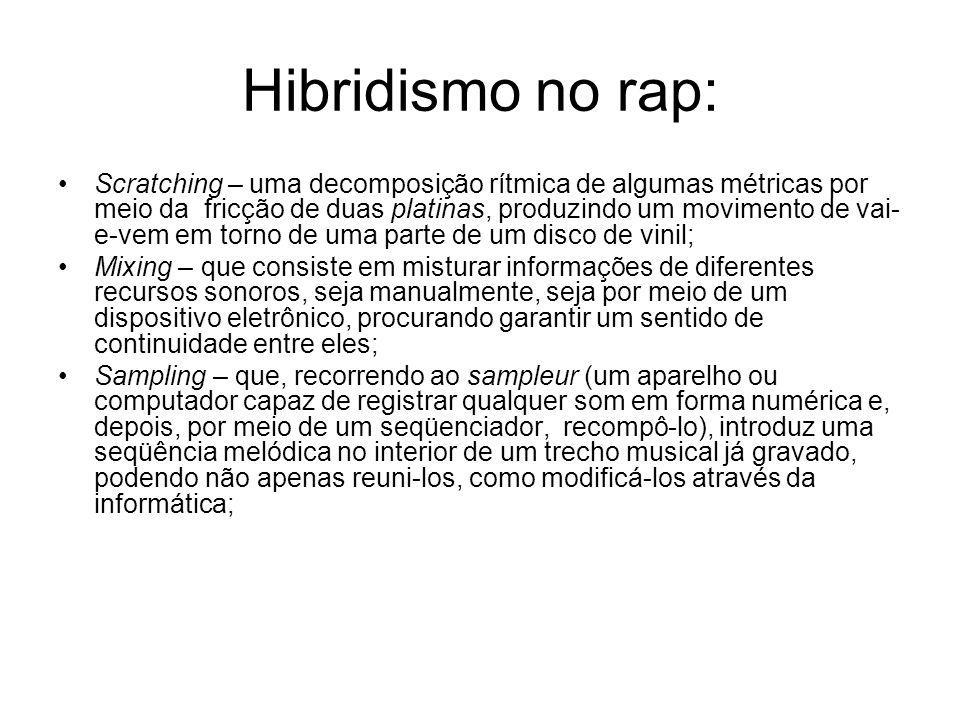 Hibridismo no rap: