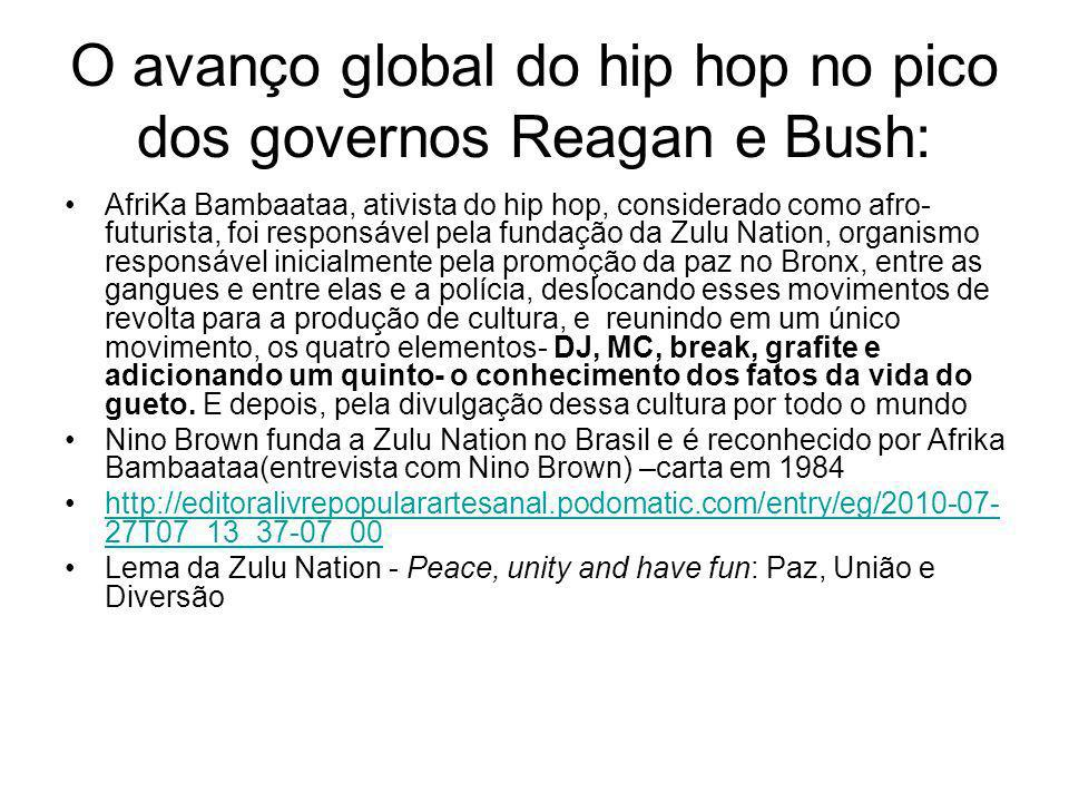 O avanço global do hip hop no pico dos governos Reagan e Bush: