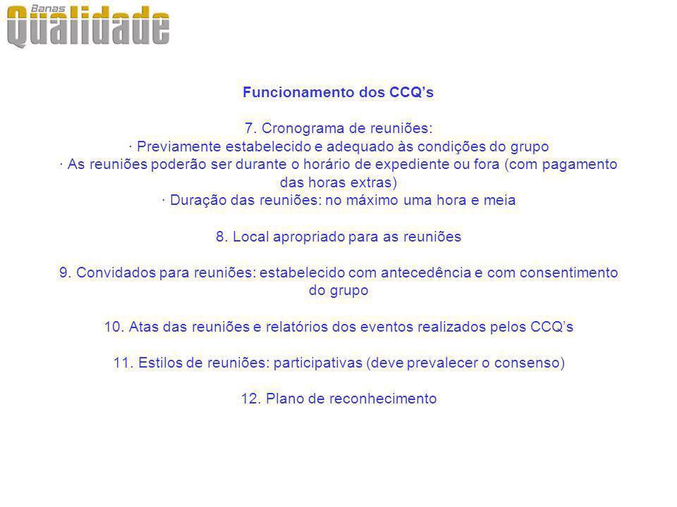 Funcionamento dos CCQ's 7