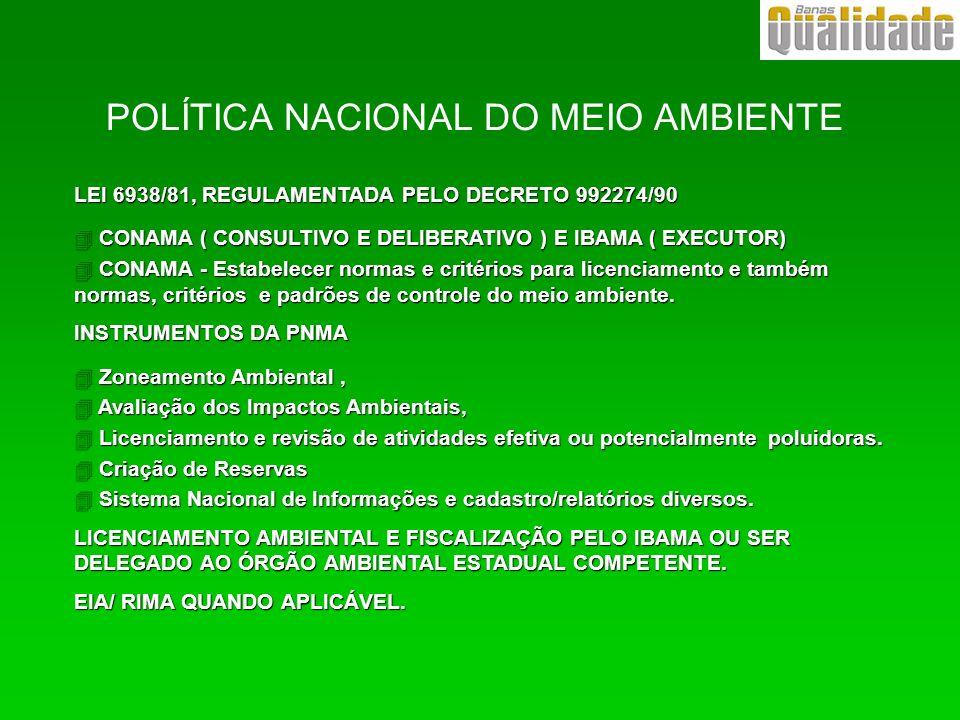 POLÍTICA NACIONAL DO MEIO AMBIENTE
