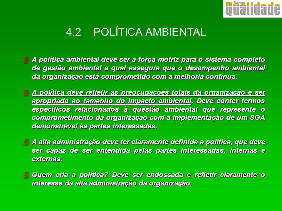 4.2 POLÍTICA AMBIENTAL