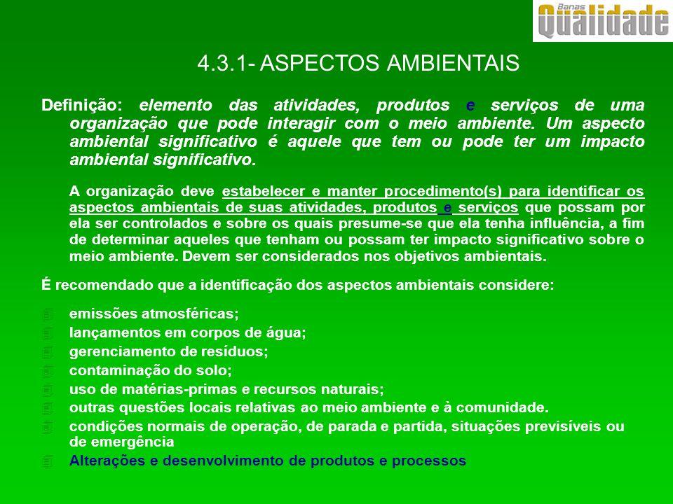 4.3.1- ASPECTOS AMBIENTAIS