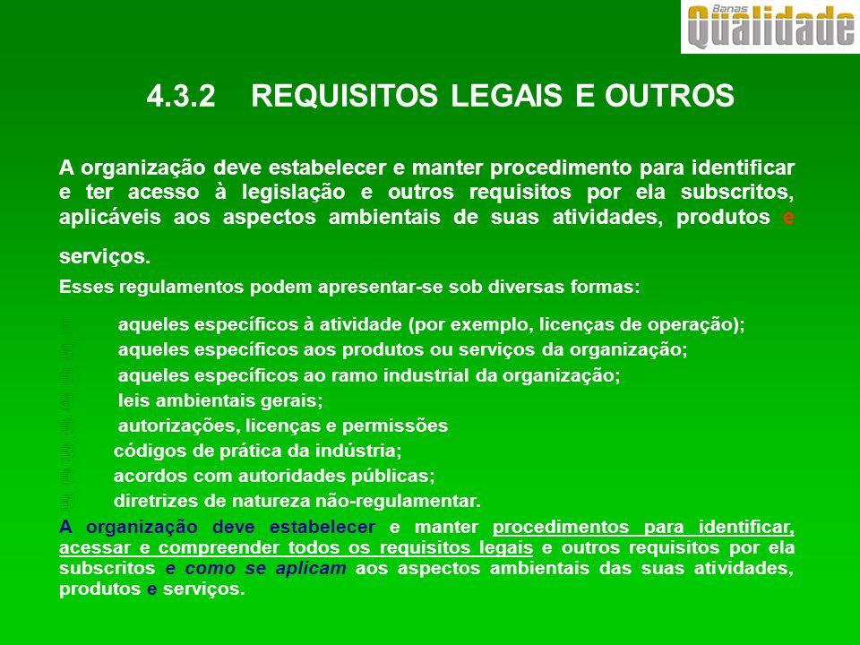 4.3.2 REQUISITOS LEGAIS E OUTROS