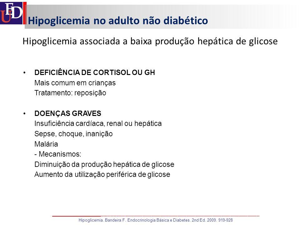 Hipoglicemia no adulto não diabético