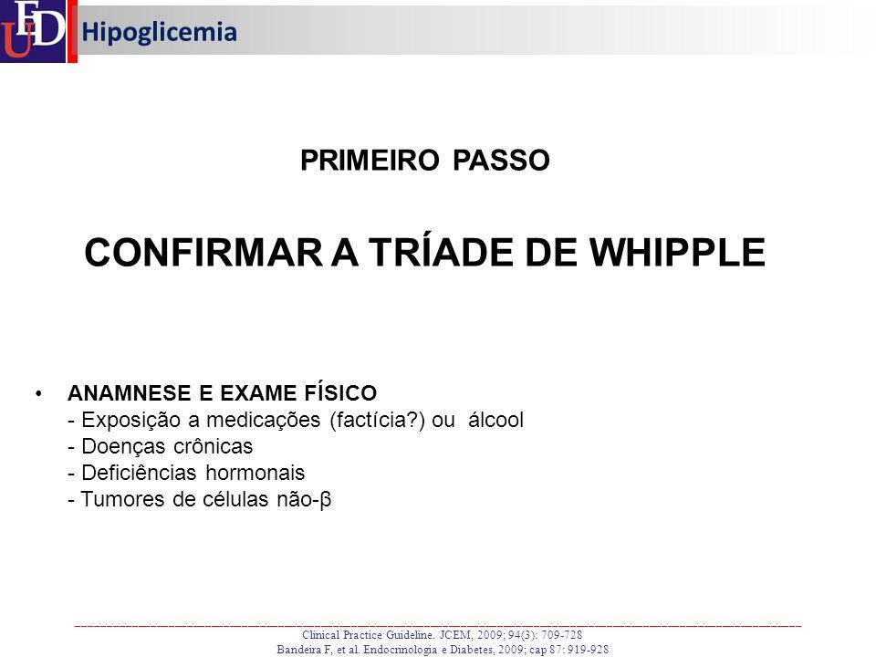 CONFIRMAR A TRÍADE DE WHIPPLE