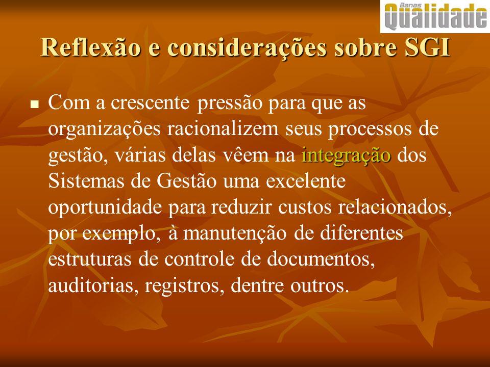 Reflexão e considerações sobre SGI