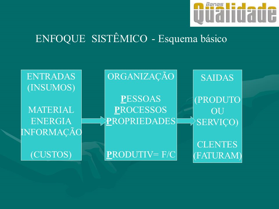 ENFOQUE SISTÊMICO - Esquema básico