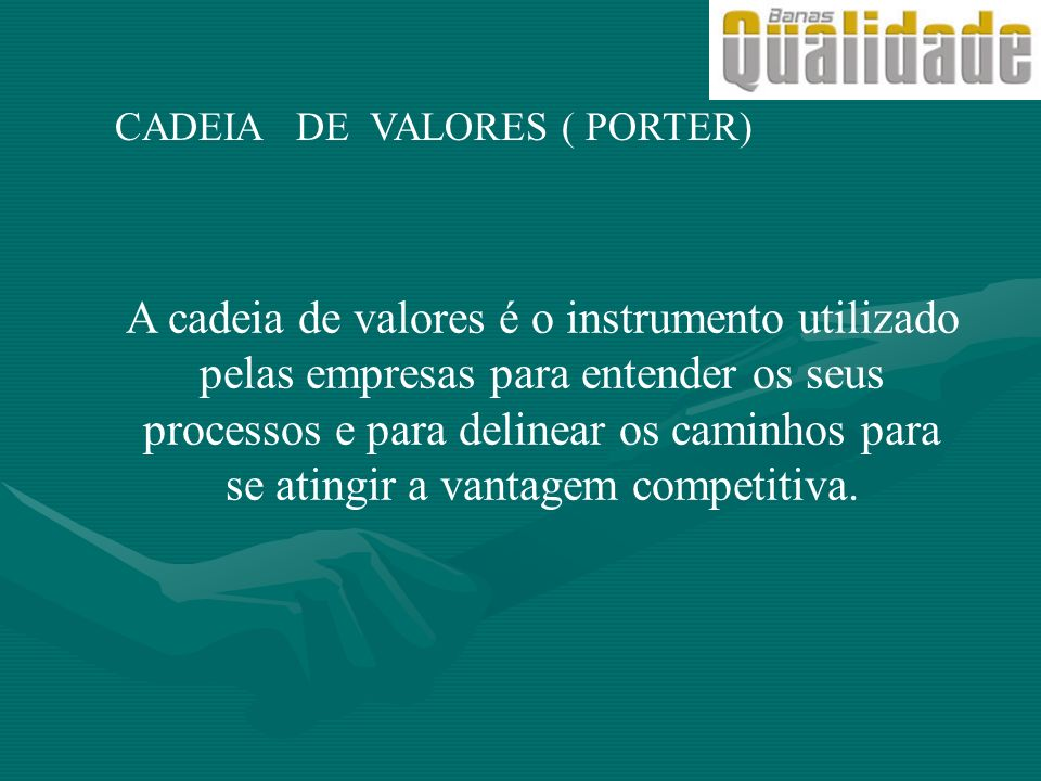 CADEIA DE VALORES ( PORTER)