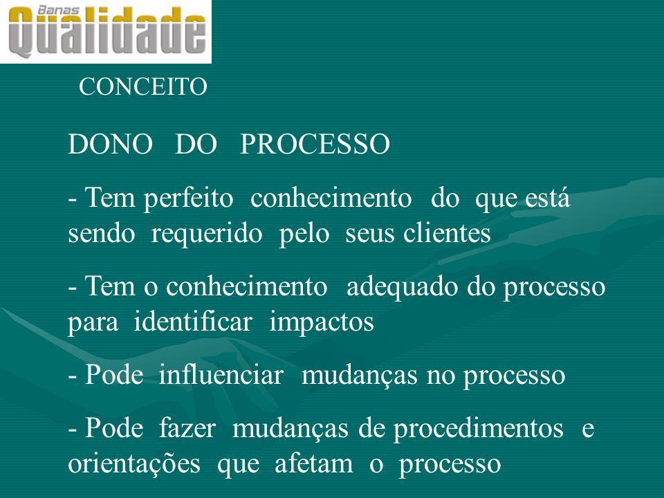 - Tem o conhecimento adequado do processo para identificar impactos