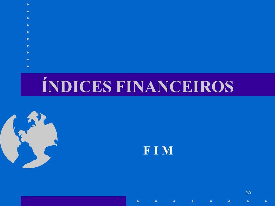 ÍNDICES FINANCEIROS F I M