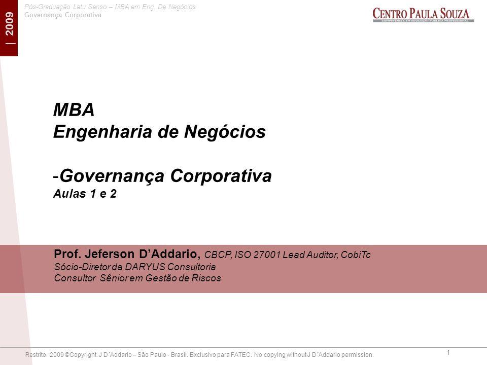 Engenharia de Negócios Governança Corporativa