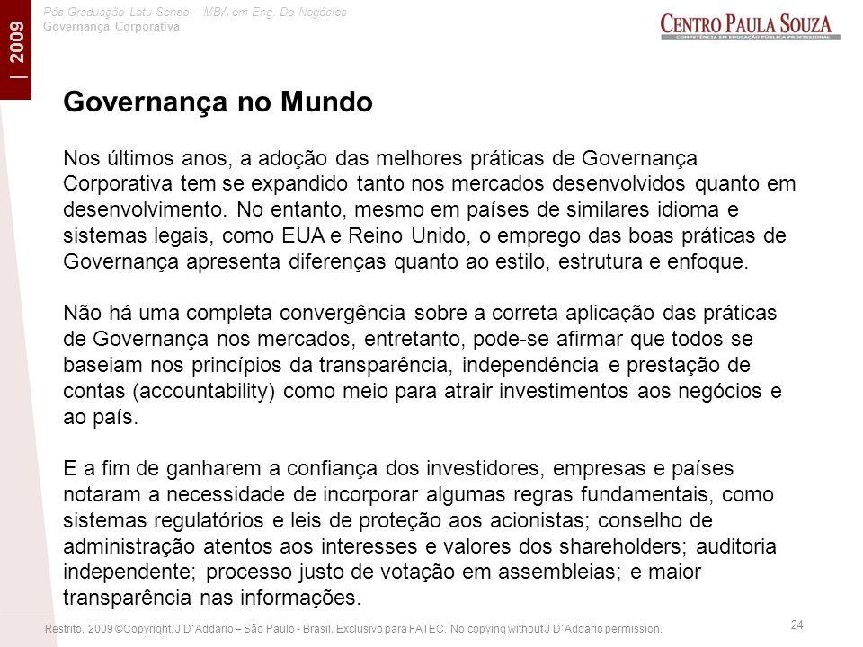 Governança no Mundo