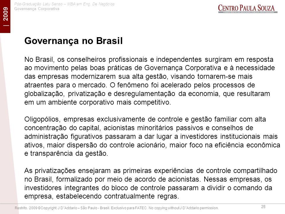 Governança no Brasil