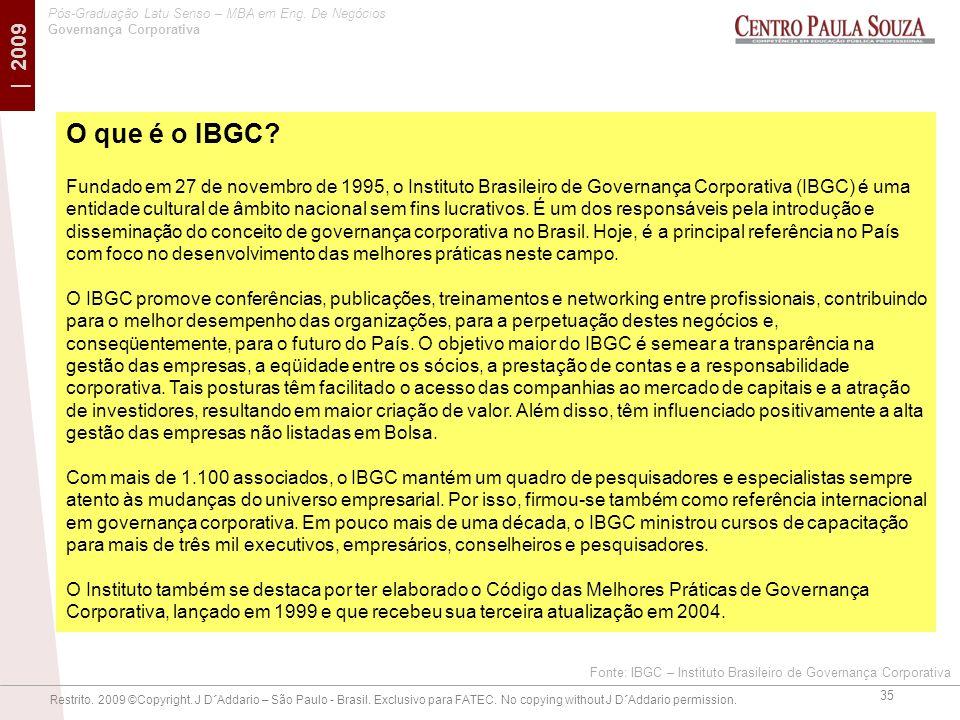 O que é o IBGC