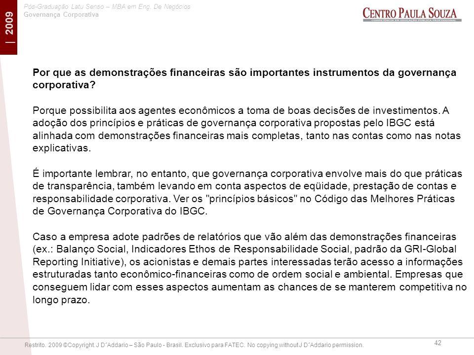 Por que as demonstrações financeiras são importantes instrumentos da governança corporativa