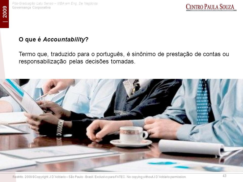 O que é Accountability.
