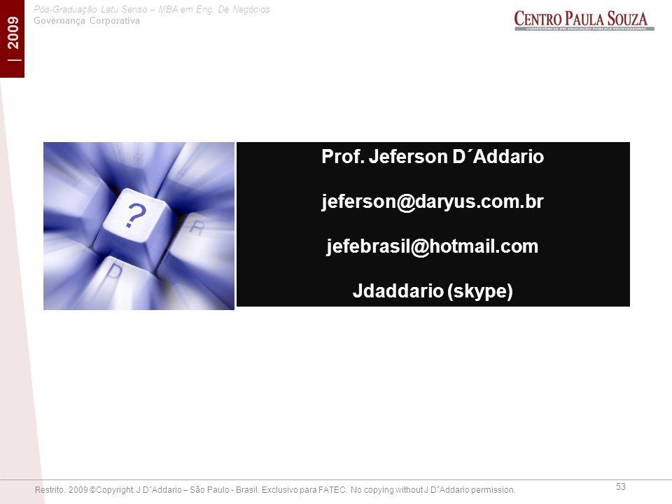Prof. Jeferson D´Addario