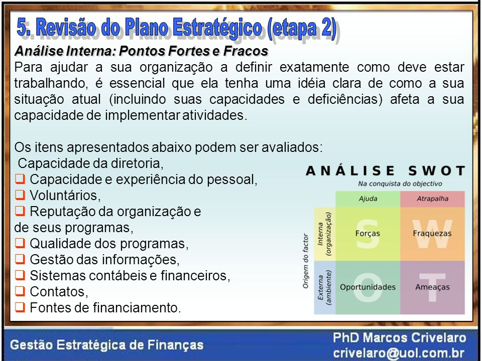 5. Revisão do Plano Estratégico (etapa 2)