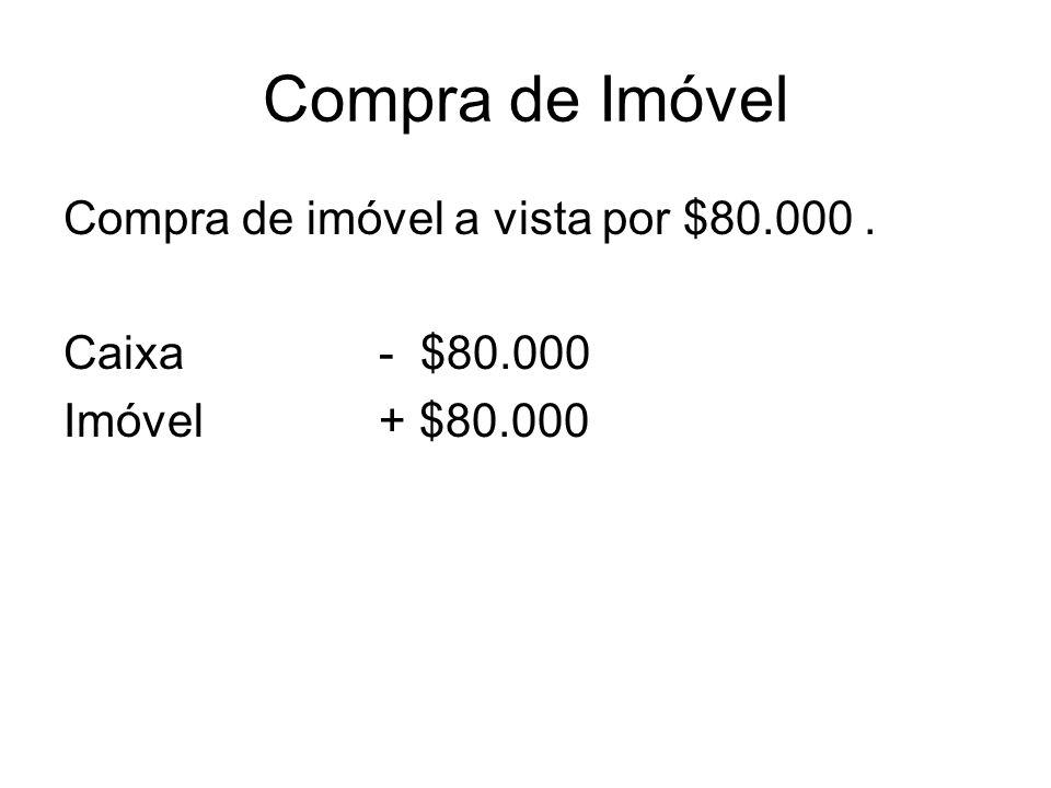 Compra de Imóvel Compra de imóvel a vista por $80.000 .