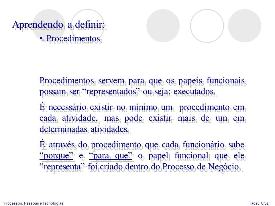 Aprendendo a definir: Procedimentos