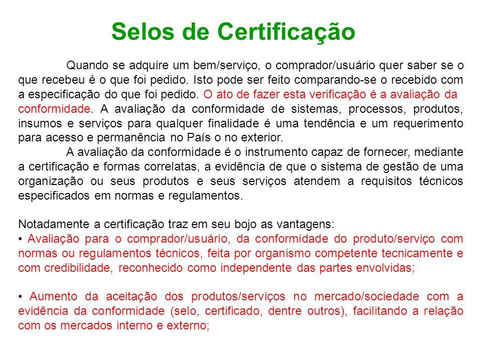 Selos de Certificação
