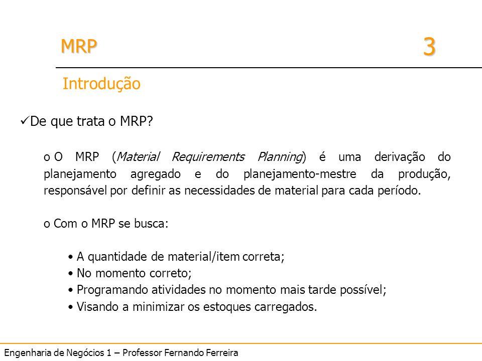 Introdução De que trata o MRP