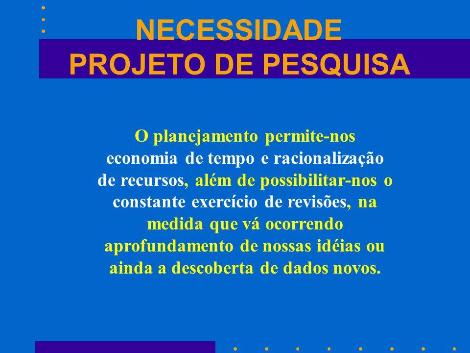 NECESSIDADE PROJETO DE PESQUISA