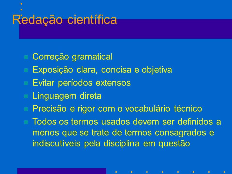 Redação científica Correção gramatical