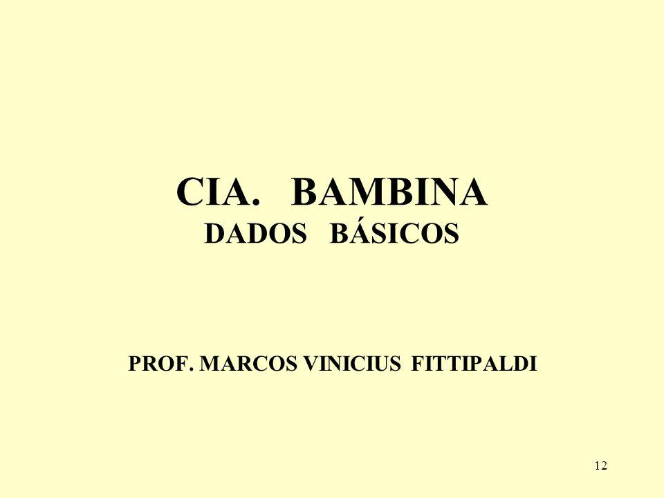 CIA. BAMBINA DADOS BÁSICOS