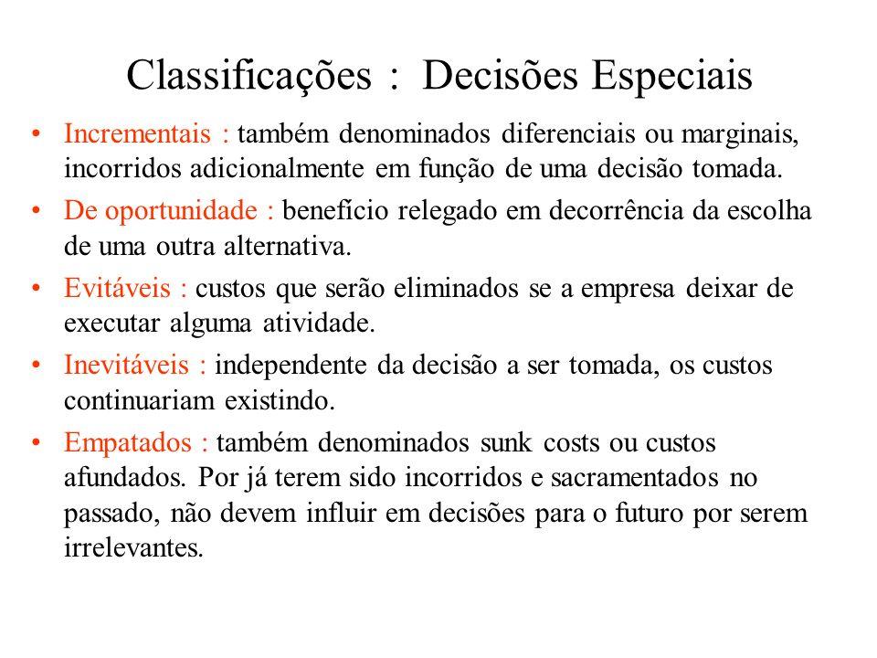 Classificações : Decisões Especiais