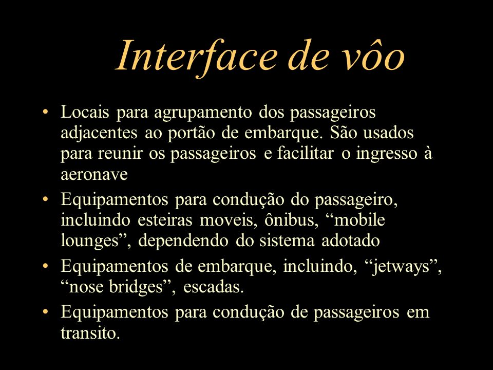 Interface de vôo