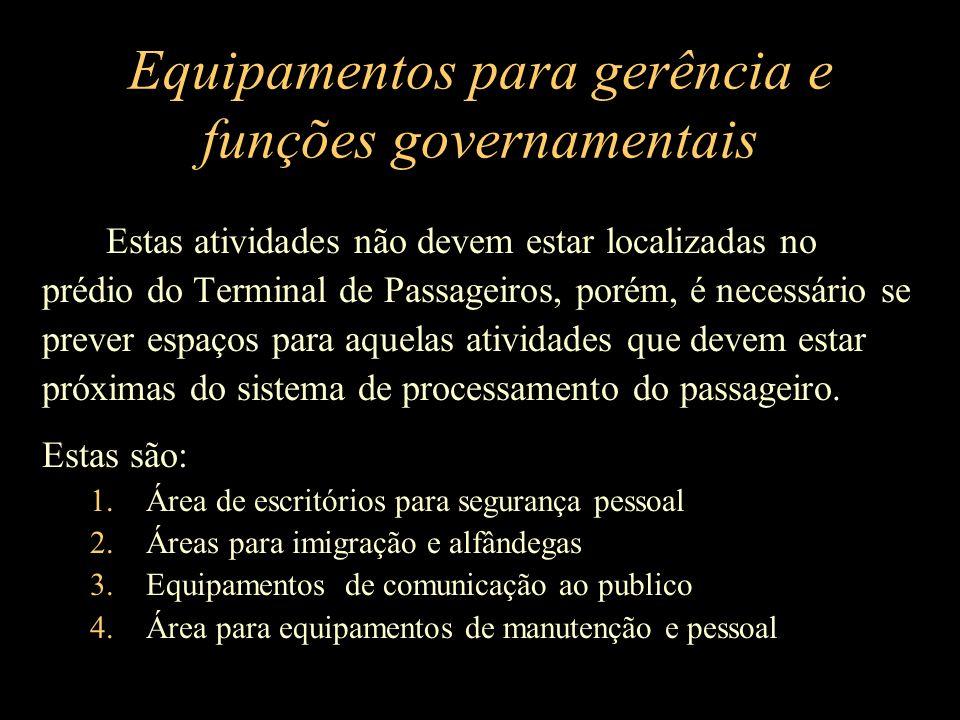 Equipamentos para gerência e funções governamentais