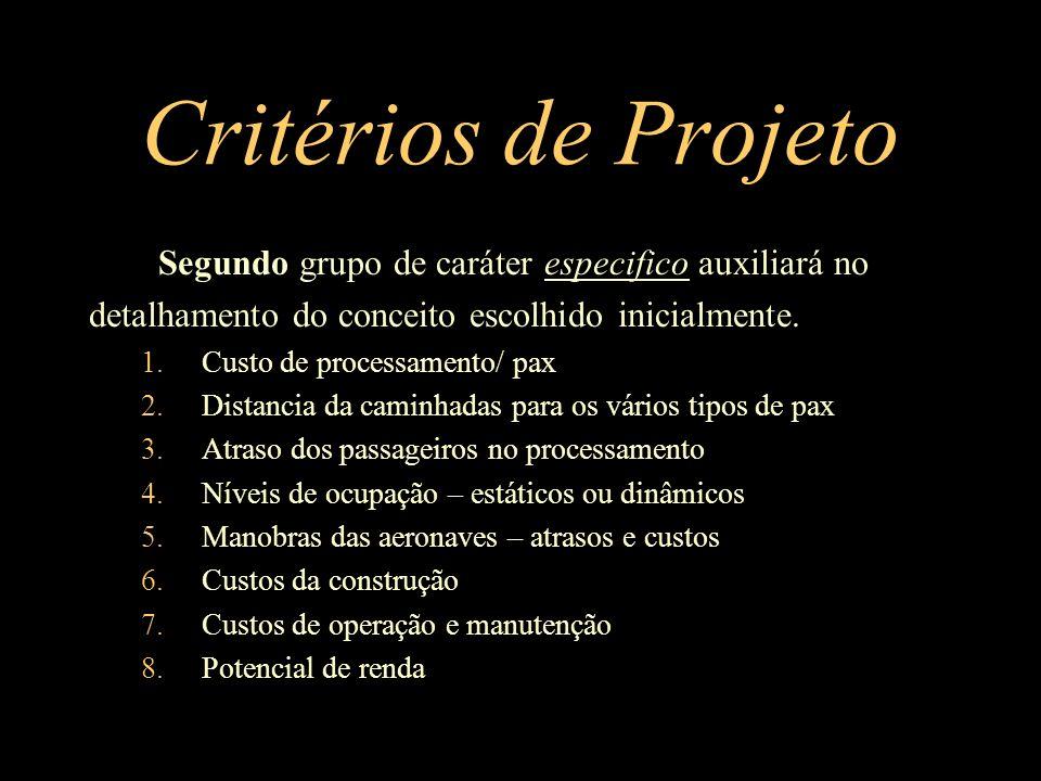 Critérios de Projeto Segundo grupo de caráter especifico auxiliará no