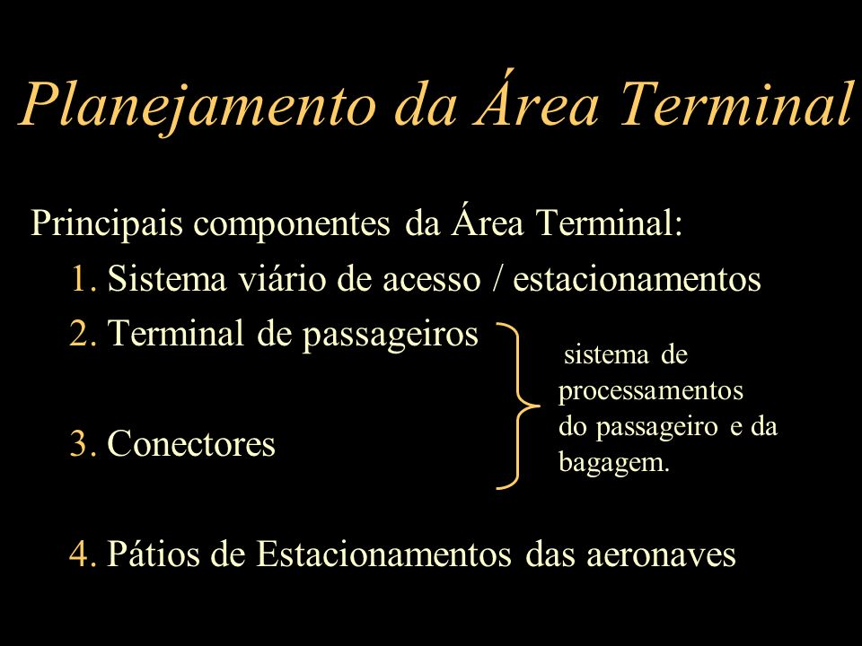 Planejamento da Área Terminal