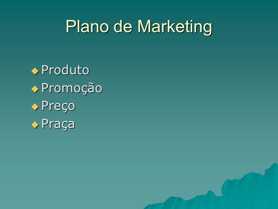 Plano de Marketing Produto Promoção Preço Praça