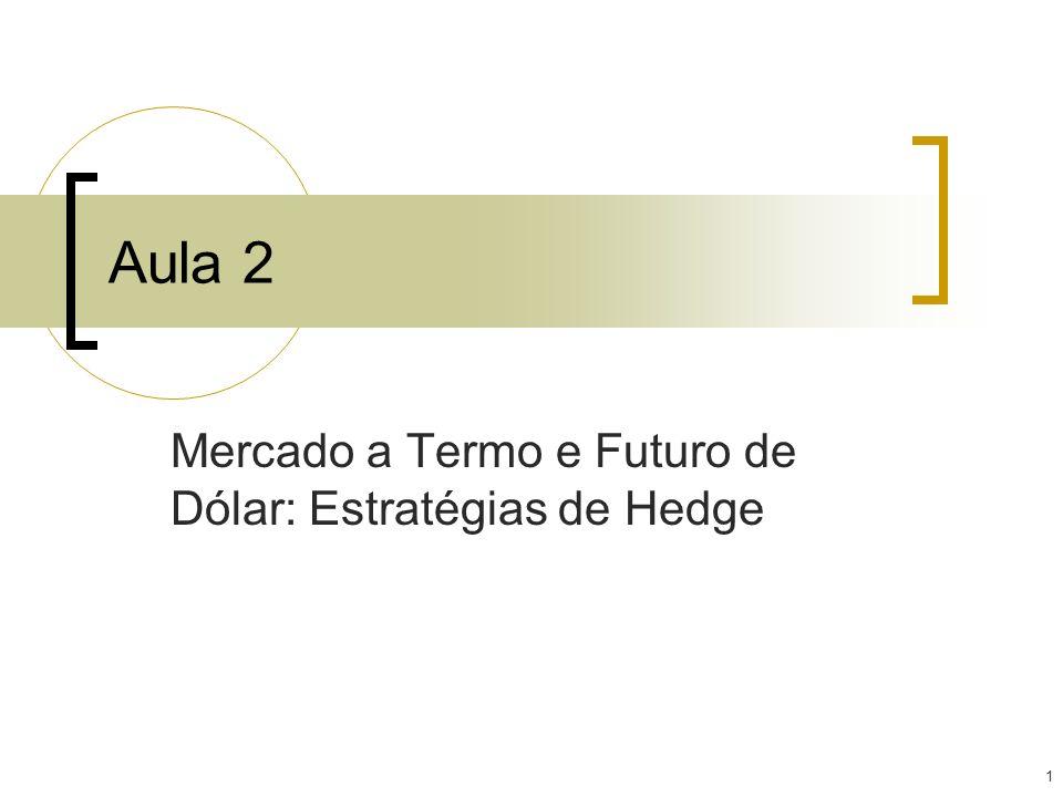 Mercado a Termo e Futuro de Dólar: Estratégias de Hedge