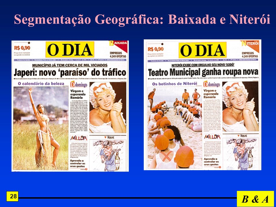 Segmentação Geográfica: Baixada e Niterói