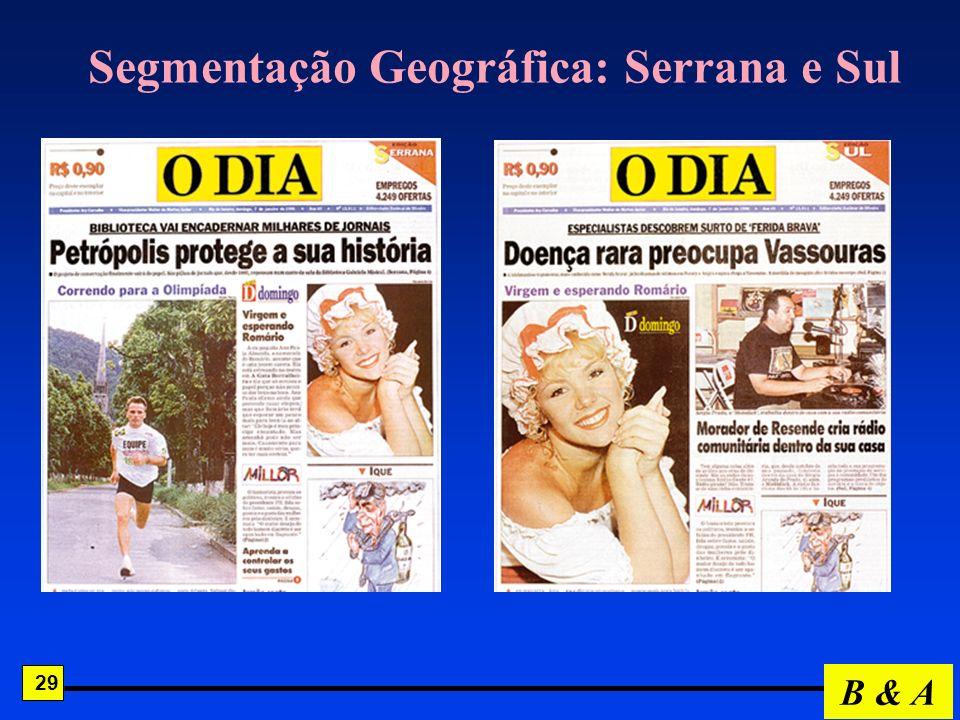 Segmentação Geográfica: Serrana e Sul
