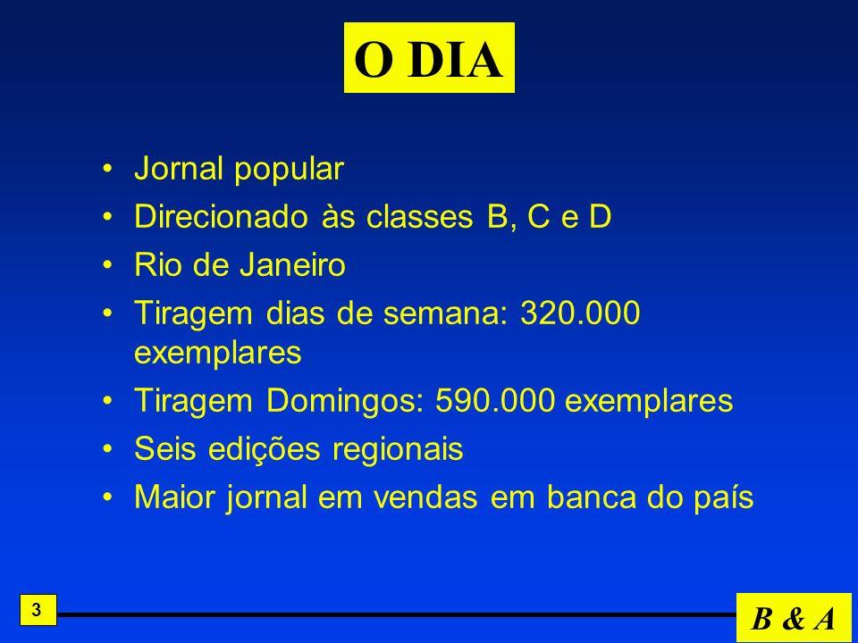 O DIA Jornal popular Direcionado às classes B, C e D Rio de Janeiro