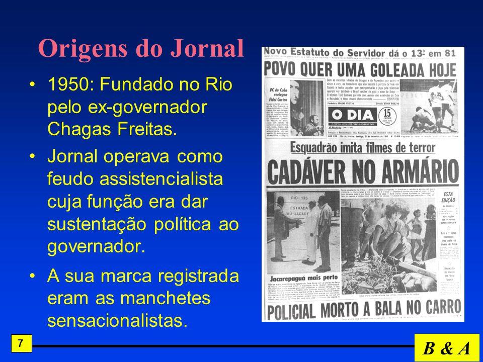 Origens do Jornal 1950: Fundado no Rio pelo ex-governador Chagas Freitas.